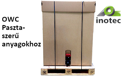 Egyirányú konténerrendszer(OWC) paszta-szerű anyagokhoz