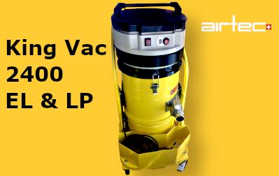 King Vac 2400 EL & LP Ipari porszívó Öntisztító szűrőkkel