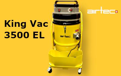 King Vac 3500 EL Ipari porszívó Öntisztító szűrőkkel