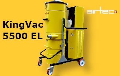 King Vac 5500 EL 400V-os Légturbinás Ipari porszívó