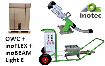 folyékony anygaok: OWC anyagtovábbítóval és továbbító szivattyúval