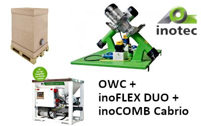 por állagú anyagok: OWC dupla szárazanyag továbbítóval kombinálva silókhoz