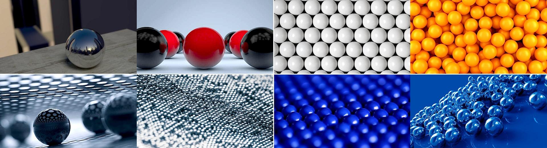 Precíziós golyók, csapágygolyók és görgők különféle anyagokból